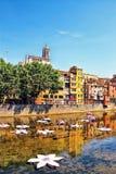 Girona κατά τη διάρκεια του φεστιβάλ †«Girona Temps de Flors, Catalon λουλουδιών Στοκ Εικόνες