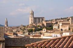 Girona. Historical city of Girona, Spain royalty free stock photo