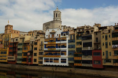Girona Barcelona Arkivbilder