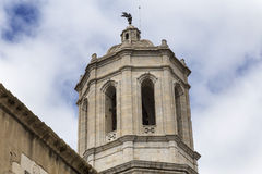 Girona bell tower Stock Images