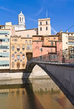 Girona brug Stock Fotografie
