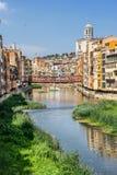 Girona the capital of Catalonia Stock Photography