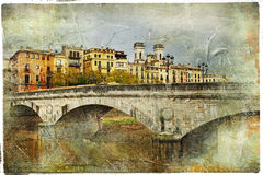 Girona - Catalonia malarski miasto, Hiszpania Zdjęcia Royalty Free