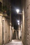 Girona Catalunya, Ισπανία τή νύχτα Στοκ Εικόνες