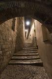 Girona Catalunya, Spain by night Royalty Free Stock Photos
