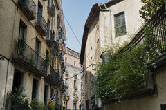 Girona Catalunya, Spain, old street Stock Photo