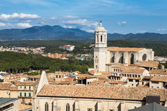 Girona Cathedral Royalty Free Stock Photography