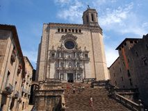 Girona Cathedral, Spain Royalty Free Stock Photography