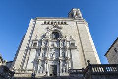 Girona Cathedral, Spain Stock Photo
