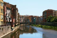 Girona is a city in Catalonia stock photography