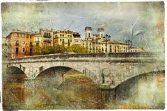 Girona - ciudad ilustrada de Cataluña, España Fotos de archivo libres de regalías