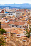 Girona in cloudy day. Catalonia Royalty Free Stock Photo