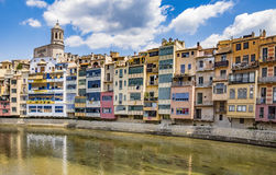 Girona - Colorful houses Royalty Free Stock Images