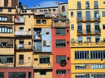 Colourful Apartments, Girona, Spain Stock Image
