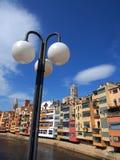 Colourful Apartments, Girona, Spain Royalty Free Stock Photo