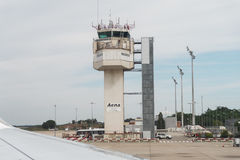 Girona Costa Brava Barcelona airport tower. Royalty Free Stock Image
