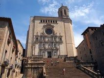 Girona domkyrka royaltyfri fotografi