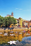 "Girona durante o †""Girona Temps de Flors do festival da flor, Catalon Imagens de Stock"