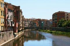 Girona is een stad in Catalonië stock fotografie