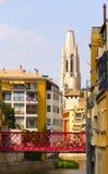 Girona Eiffel-Brücke Stockfotografie