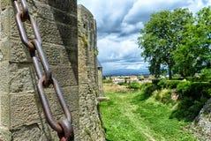 Girona Eine alte Festung Stockbild