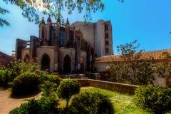 GIRONA, ESPANHA - EM MAIO DE 2016: Vista de Girona - catedral gótico em G Imagens de Stock Royalty Free