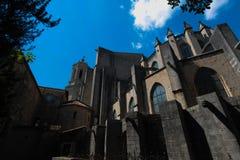 GIRONA, ESPANHA - EM MAIO DE 2016: Vista de Girona - catedral gótico em G Imagem de Stock Royalty Free