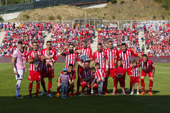 Girona football team Stock Images