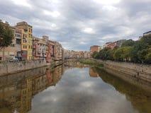 Girona gammal town royaltyfria bilder