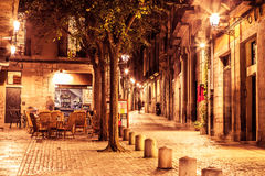Girona gata Arkivbilder