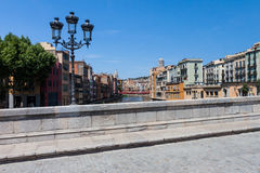 Girona / Gerona from the bridge Royalty Free Stock Images