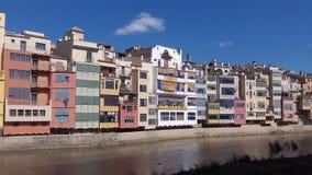 Girona-Häuser Stockfotografie