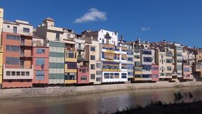 Girona Houses. Houses by River in Girona, Spain Stock Photography