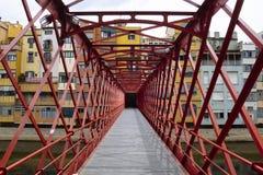 Girona ijzerbrug Royalty-vrije Stock Foto's