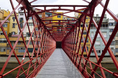 Girona iron bridge Royalty Free Stock Photos