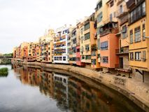Girona jest miastem w Catalonia, Hiszpania fotografia royalty free