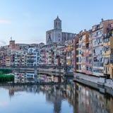 Girona kapitał Catalonia Zdjęcia Royalty Free