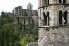 Girona Kathedraal Stock Afbeeldingen