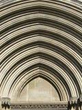 Girona kathedraalboog Stock Afbeelding