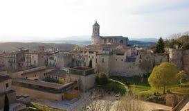 Girona Kathedraalmening van de muur Stock Fotografie