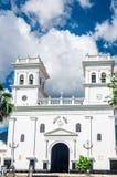 Girona kolonial domkyrka vid Bucaramanga i Colombia Fotografering för Bildbyråer