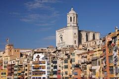 Girona kyrka Arkivbild