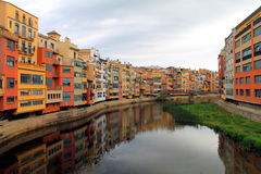 Girona m'enamora. Shades of orange from head to toe Royalty Free Stock Image