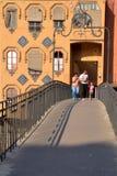 Girona most, Catalonia, Hiszpania Obrazy Royalty Free