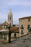 Girona nella neve. Fotografia Stock