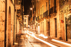 Girona at night Royalty Free Stock Images
