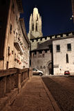 Girona at night Stock Photo