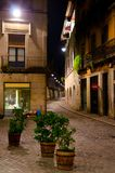 Girona Nocturnal fotografia de stock royalty free
