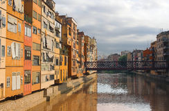 Girona, Onyar river, Spain Stock Photo