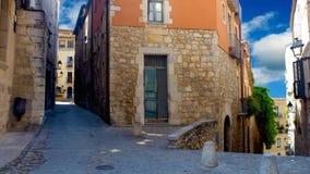 Girona, oude stad stock video